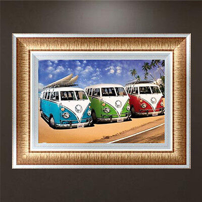 DIY 5D Diamond Embroidery Painting Bus Cross Stitch Craft Kit Home Decor