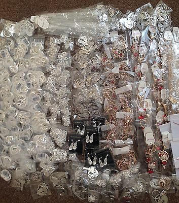 JOB LOT 500 assorted jewellery items, all brand new stock clearance Great Value