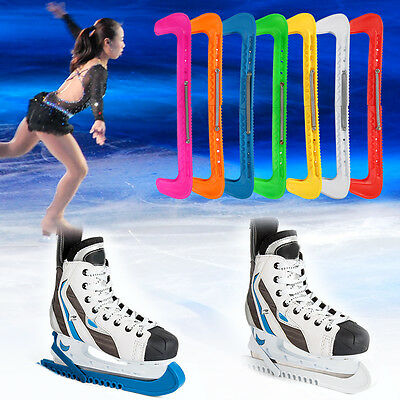 1 Pair Ice Hockey Skate Blade Guards Cover Protector W/ Adjustable Spring HL