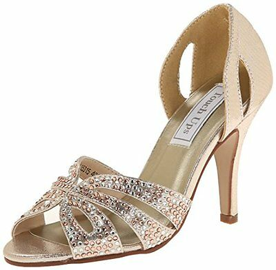 BENJ-848231025849-Touch Ups Womens Poise Dress Sandal, Champagne, 10.5 M US