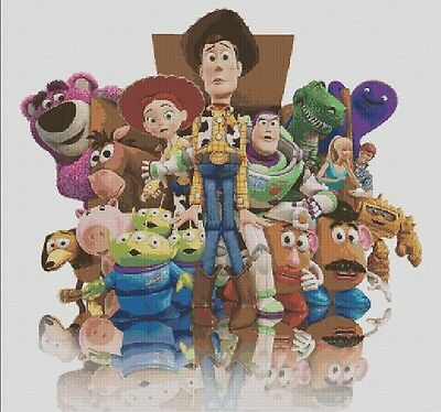 Counted Cross Stitch Pattern or kit, Disney Pixar Toy Story