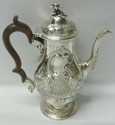 George II Silver Coffee Pot 1742 Louis Dupont stock id 7319