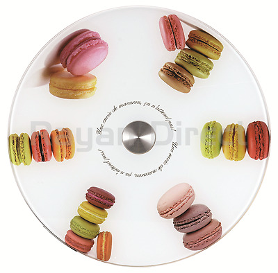 New Tempered Glass Lazy Susan Turnable Rotating Serving Plate  Cake Tray 30cm
