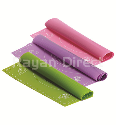 Nonstick Large Silicone Pastry Baking Sheet Liner Roll Cut Mat with Measurements