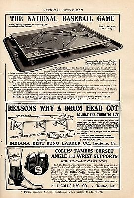 1910 Toy National Baseball Game Ad