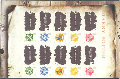 Great Britain Harry Potter self-adh.2 sets mnh
