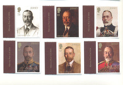 Jersey- King George V-Royalty-Paintings -Art set mnh 2016