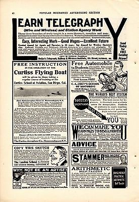 1913 Curtiss School Of Aviation Ad-Curtiss Flying Boat