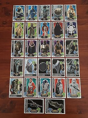 Star Wars - Force Attax (TOPPS collector cards) 27 x Cards Mixed Lot