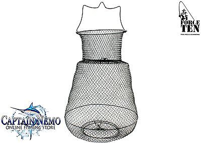 Live Bait Fish Cage Collapsible Wire Basket Keeper Net Force Ten Tackle M4587