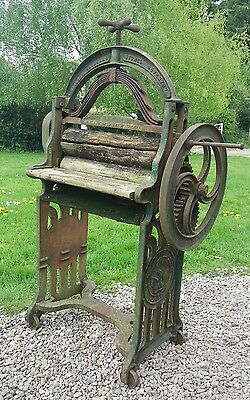 Arch top mangle with old cast iron ends vintage garden display