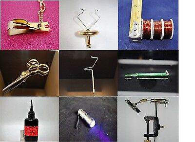 Fly Tying, Fly Fishing Tools, Materials, 60+ Pieces, With Discount For 3+ Items