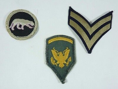 Vintage Lot of 3 Military Patches lot 1a NOAG