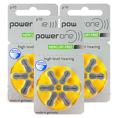 Power One 10 Size Hearing aid batteries * Zinc air Mercury free Varta x 60 cells