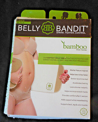 NIB Belly Bandit BAMBOO From Viscose BLACK Post Pregnancy Wrap Size Large