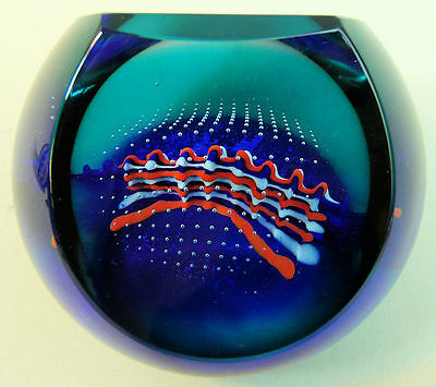 A Stylish Caithness Ltd Edition Glass Paperweight 'shockwave'