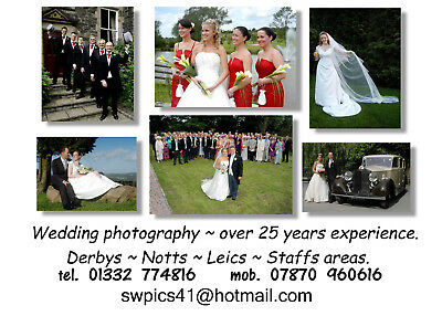 Wedding photography East Midlands. Derbyshire, Notts, Leics and Staffs