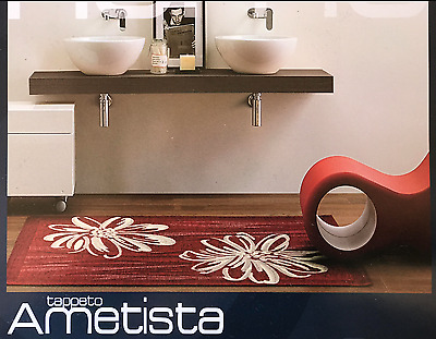 Tappeto Ametista Fiore By Suardi Made In Italy Rosso