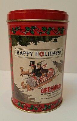 Vintage Life Savers 1989 Limited Edition Holiday Keepsake metal tin