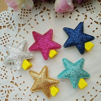 5pcs/lot shiny stars Kids Girls Baby Hair clips Barrettes Hair accessories Gifts