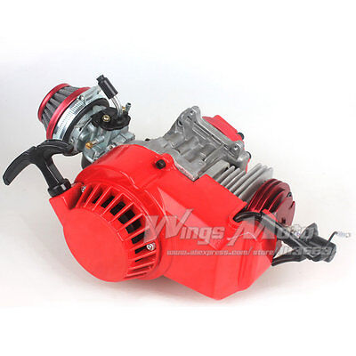 49cc 52cc Big Bore Pocket Bike Engine with Performance Cylinder CNC Engine Cover
