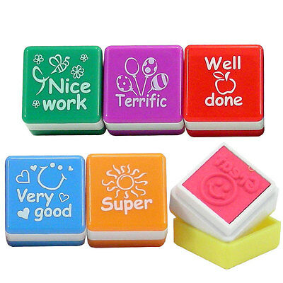 Set of 6 Teacher stamps self inking stamps for kids Ideal for schools,nursery