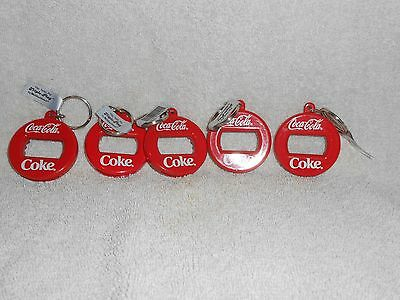 Coca-Cola--Lot of 5--Coca-Cola Coke Bottle Openers Keychains
