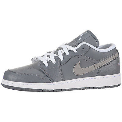 Nike Air Jordan 1 Low (GS) Shoes 553560-003 Youth Basetball  cool grey 6.5Y