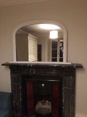 Large White Fireplace Overmantle