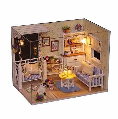 Delicate DIY Passion Assembled Wooden Dollhouse Miniature Furniture Kit