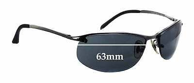 d463bd15ac SFx Replacement Sunglass Lenses fits Ray Ban RB3179 Sunglasses - 63mm Wide