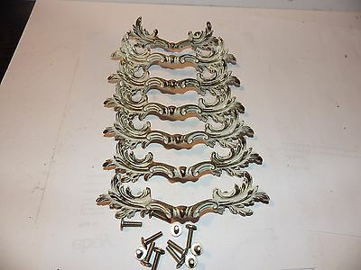 Lot of 6 Keeler Brass Co. Ornate Drawer Pulls No. K854