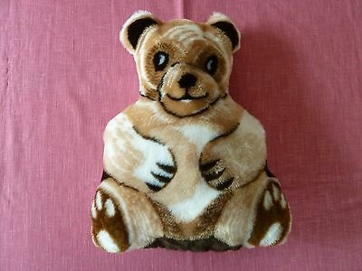 "Handmade Pre-Printed Childs Teddy Bear Pillow, washable polyfil stuffing,16""x12"""