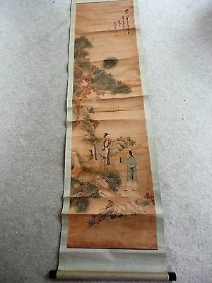 RARE! 19th Century Antique Old Chinese Painting Signed by Artistl