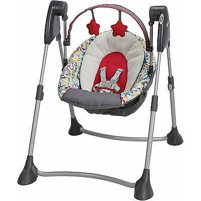 Graco Swing By Me Portable Multiple Baby Swing in Typo Brand New! Free Shipping!