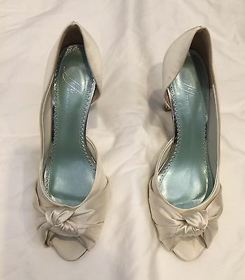 "Satin Wedding Shoes - Fifi by Filippa Scott size 8  (European 38.5)  3"" Heel"