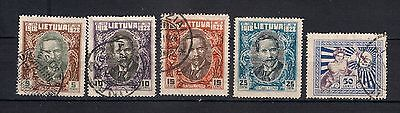 LITHUANIA 1928 SC#226-231  10th aniv. of Lithuanian independence.  USED   - 4/48