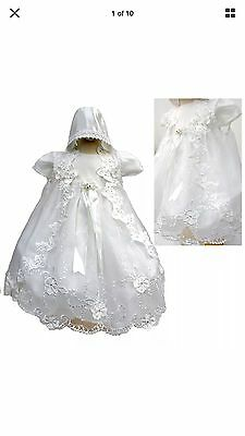 BABY INFANT TODDLER GIRL CHRISTINING BAPTISM Dress Gown Size 6-12 months