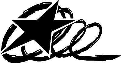 Star & Lasso Horse Trailer Decal Stickers Camper RV Vinyl Decal Sticker 12x20