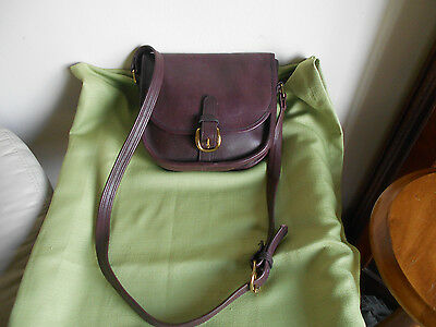 Vintage FRYE  Brown Burgundy leather Crossbody Messenger Saddle Bag Handbag