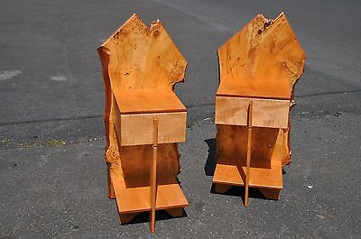 Pair Of Clint Searl Custom Made End Tables Or Nightstands