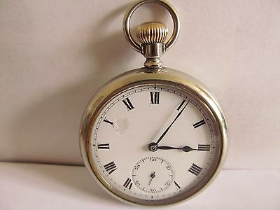 vintage pocket watch silveroid case very good condition and good working order