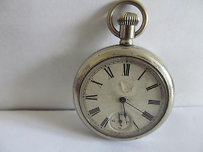vintage pocket watch nickel cased in good condition not working