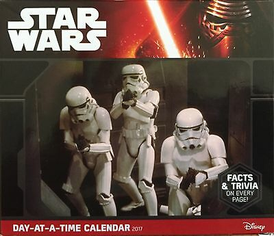 Star Wars 2017 Daily Calendar With Facts & Trivia NIB NEW