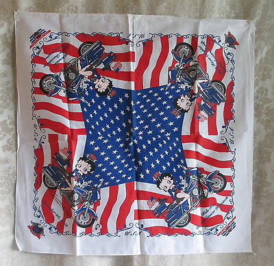 Harley-Davidson September 28th 2003 Patriotic Biker Girl Betty Boop Ride Bandana