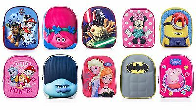 Character licensed 3D school backpacks / rucksacks for kids girls and boys 31cm