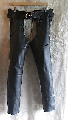 Harley-Davidson Chaps in black leather size medium