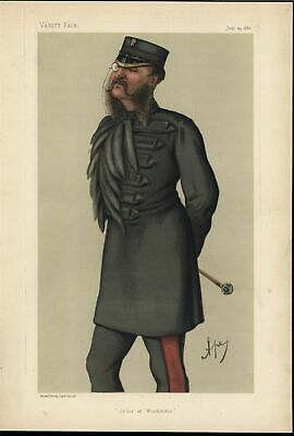 Colonel Lewis Guy Philips Boxer Caricature 1880 Bibliophile Vanity Fair print