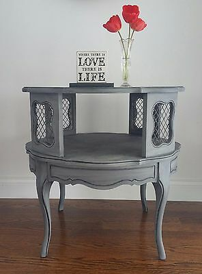 Two Tiered Vintage SIde Table