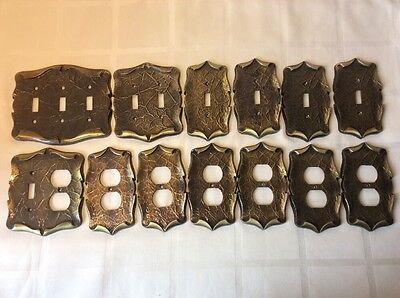 Big Lof Of Vintage Amerock Carriage House Brass Outlet / Switch Wall Cover